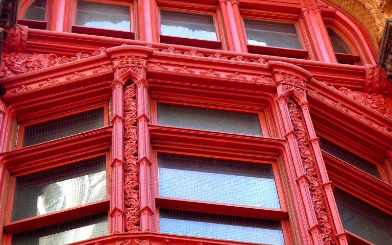 Corbin building cast iron window surrounds.