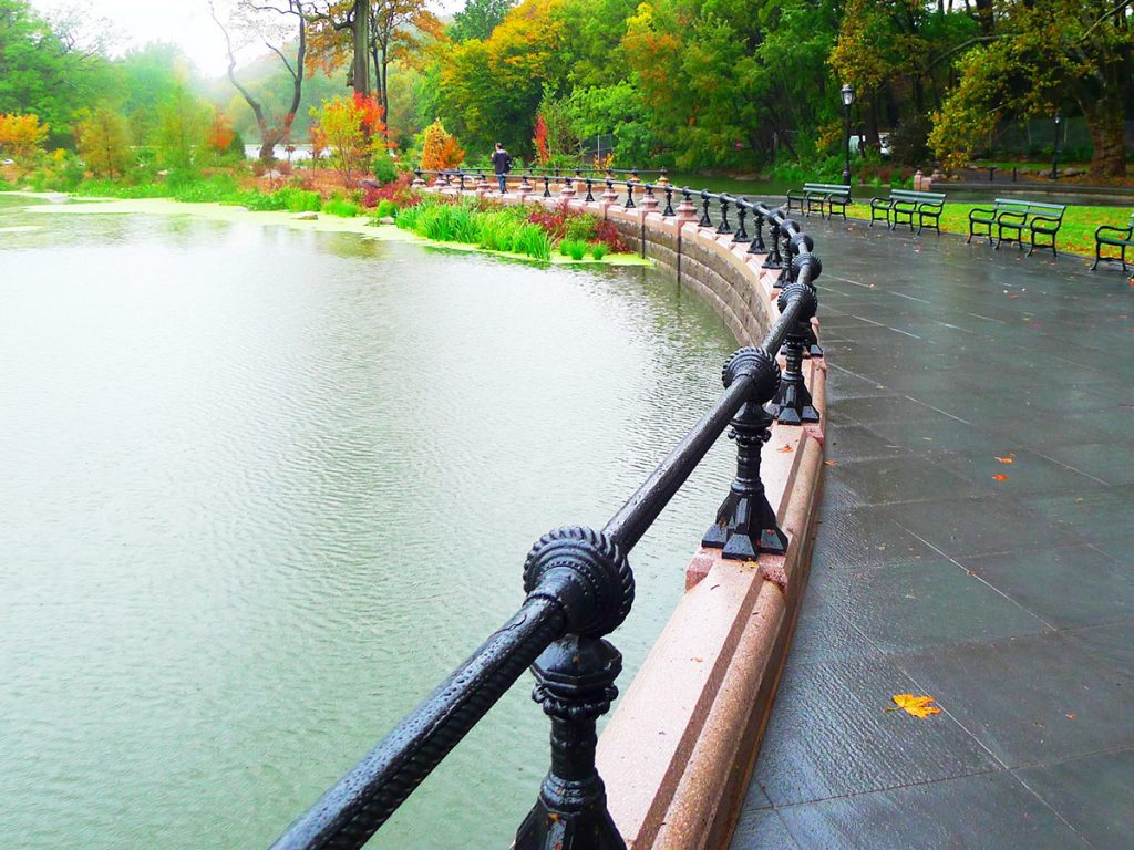Restored cast iron railing, Prospect Park.