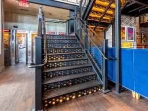 Cast iron stair treads, Bancroft, Boston.