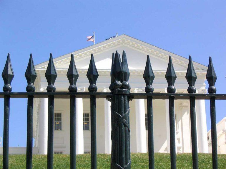 Cast iron fence, Virginia Capitol Square.