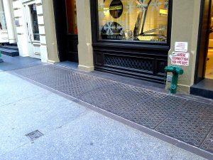 Cast iron vault light replacement, 70 Greene Street, NYC.