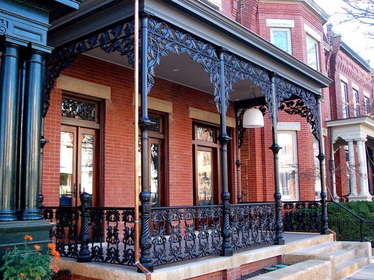 Cast iron porch reproduction, 1505 West Ave., Richmond, Virginia