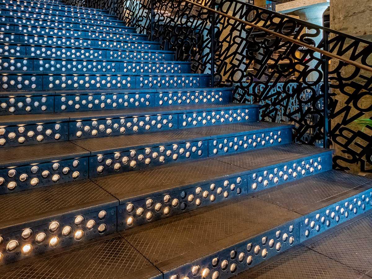 Cast iron stair treads The Fenway, Boston.